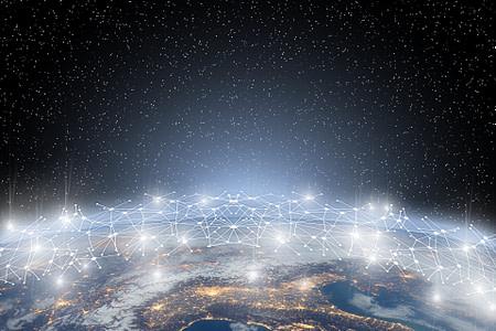 Bild das die Digitalisierung und Globalisierung der Welt darstellen soll. Wir sind Ihr starker Partner für Websites und Digitalisierungen!